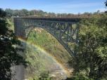 Mirroring rainbow of the bridge on the Zim side